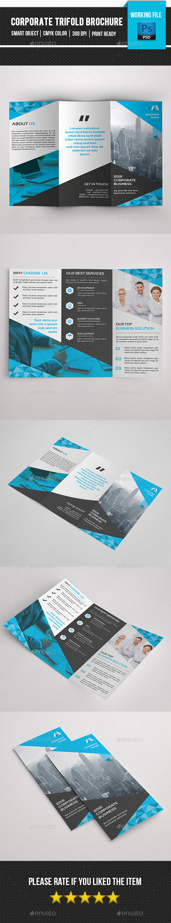 Corporate Trifold Brochure-V276 - Corporate Brochures