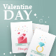 Valentine's Day flat card - GraphicRiver Item for Sale