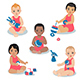 Different Race Toddlers - GraphicRiver Item for Sale