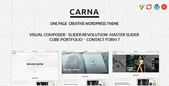 Carna | Responsive Multi-Purpose WordPress Theme - Creative WordPress