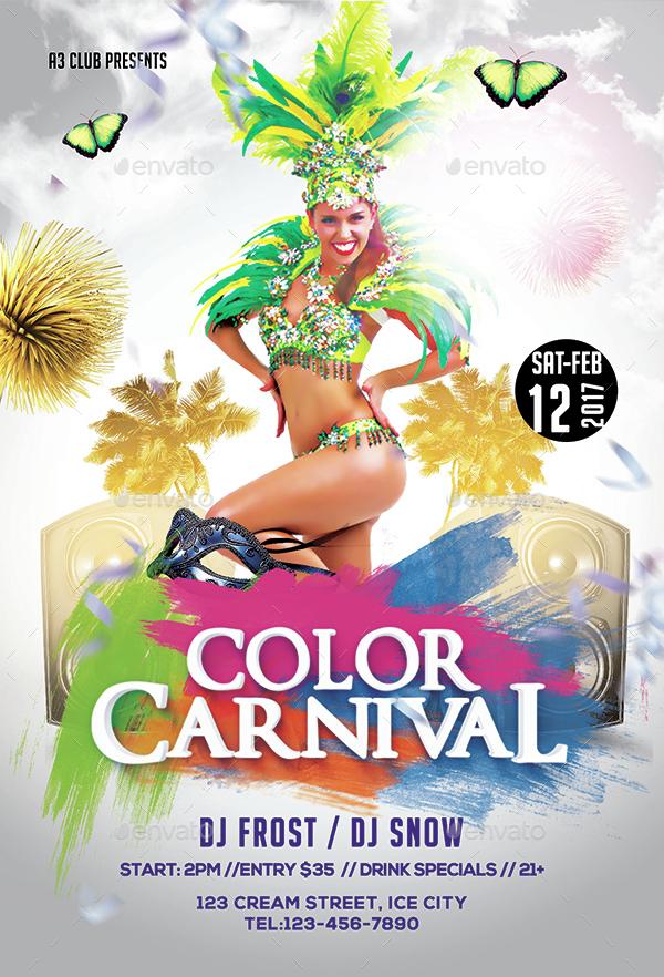 Color Carnival Flyer + Facebook Cover by Arrow3000 ...