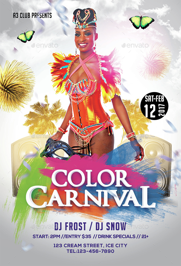 Color Carnival Flyer + Facebook Cover by Arrow3000 ...