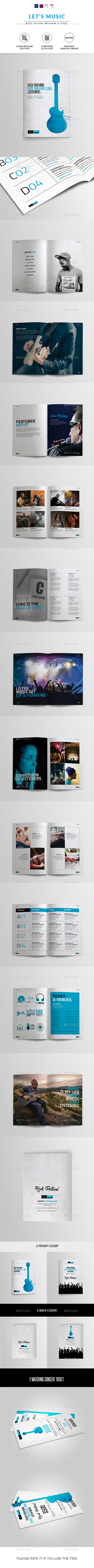 Music Festival Brochure | Indesign & Photoshop Template - Informational Brochures