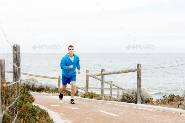 Healthy running man - Stock Photo - Images