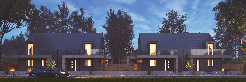 vray night scene rendering modern house by visualcg 3docean
