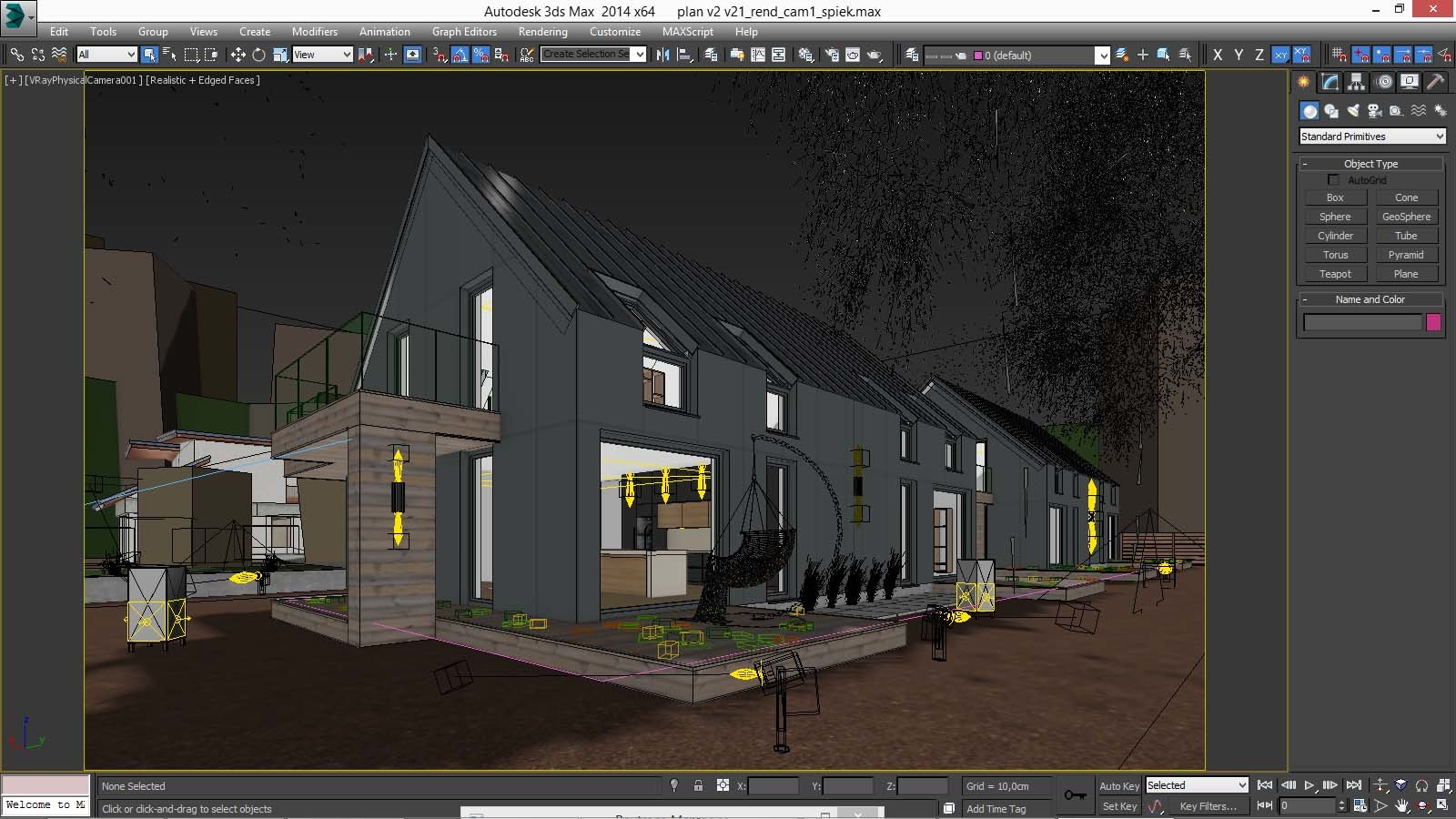 Vray Night Scene - Rendering Modern House