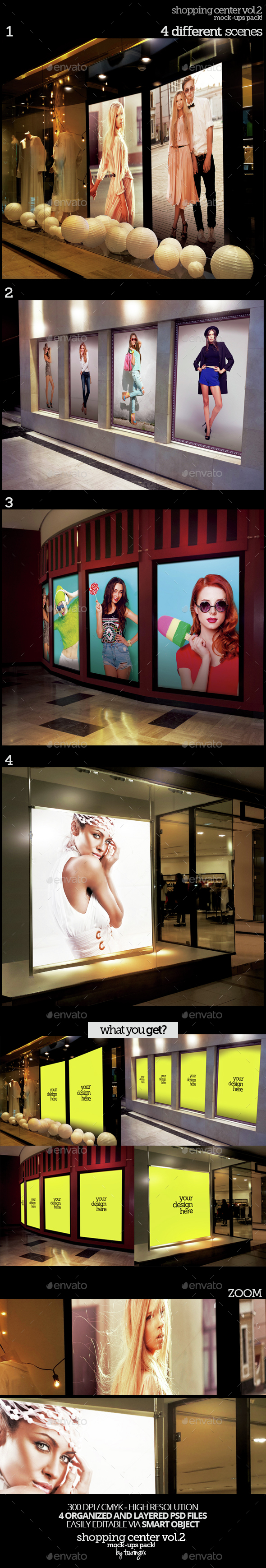 Shopping Center Vol.2 Mock-Ups Pack - Product Mock-Ups Graphics