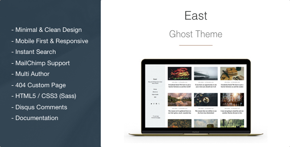 East – Blog and Multipurpose Clean Ghost Theme