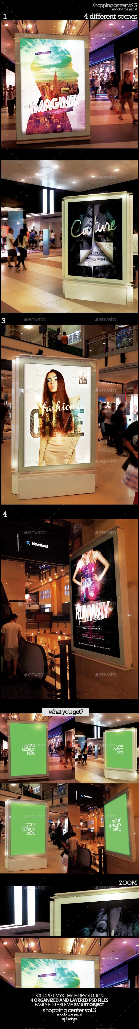 Shopping Center Vol.3 Mock-Ups Pack - Product Mock-Ups Graphics