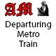 Departuring Metro Train