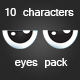 10 character eyes pack - GraphicRiver Item for Sale