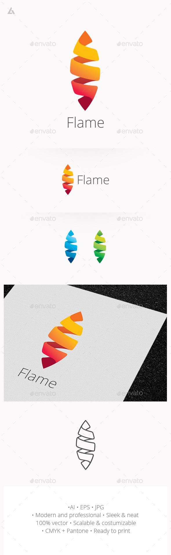 Flame logo - Logo Templates