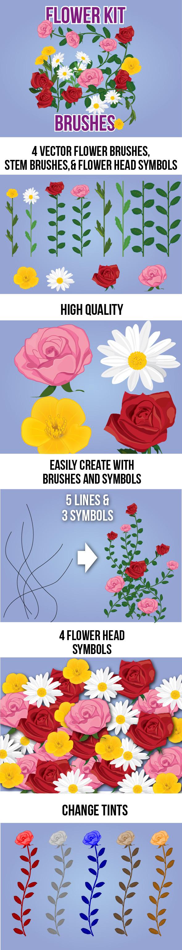 Flower Kit Brushes - Miscellaneous Brushes