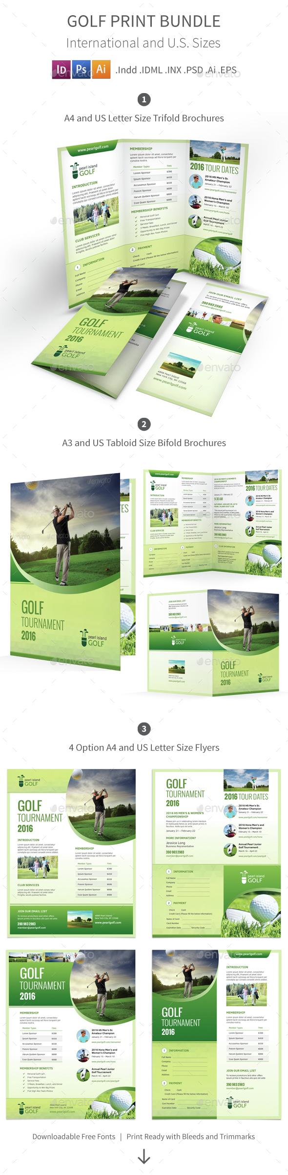 Golf Club Print Bundle - Informational Brochures