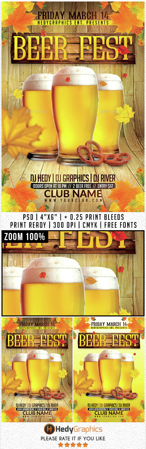 Beer Fest - Flyer Template - Events Flyers