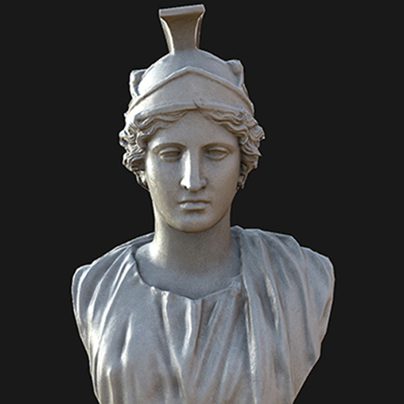 Athena bust - 3DOcean Item for Sale