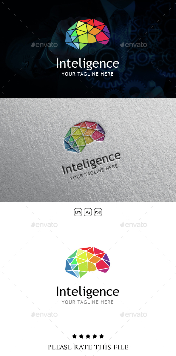Brain Logo - Vector Abstract