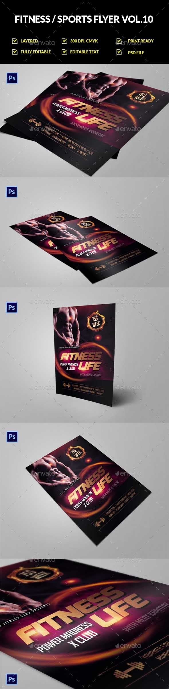Fitness Flyer Vol.10 - Sports Events