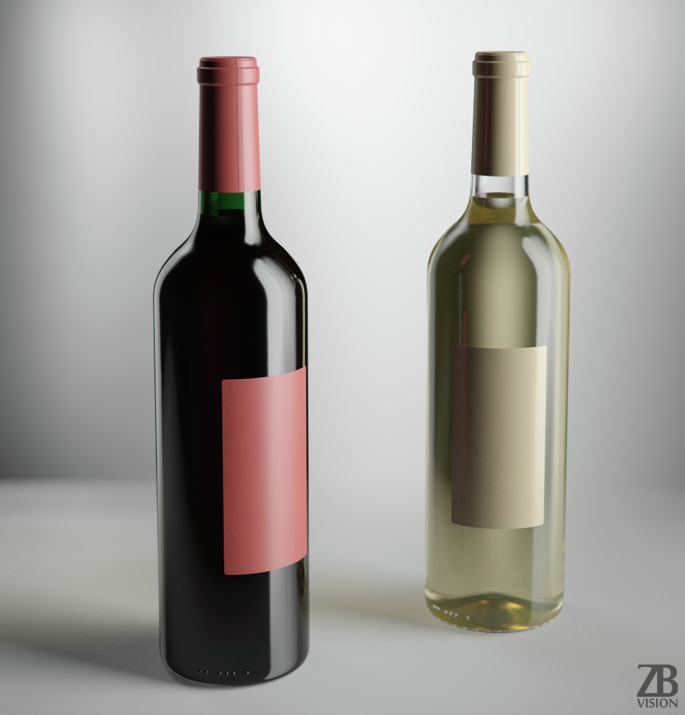 Wine bottle by luckyfox 3docean for Wine bottle material