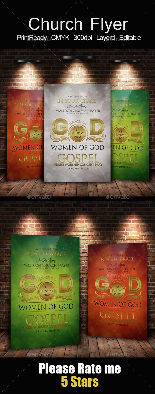 The Kingdom of God Church Flyer Template - Church Flyers