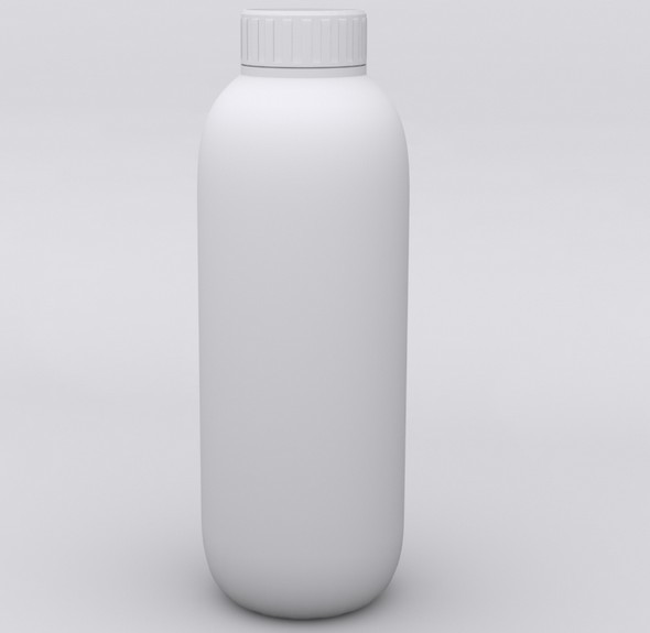 Molded Plastic Bottle - 3DOcean Item for Sale