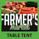 Farmer's Market Table Tent - GraphicRiver Item for Sale