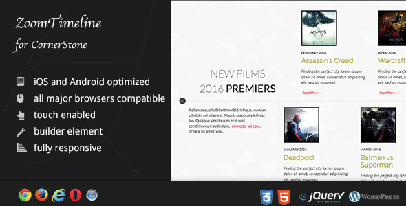 ZoomTimeline - WordPress Ultimate Timeline Pack - CodeCanyon Item for Sale