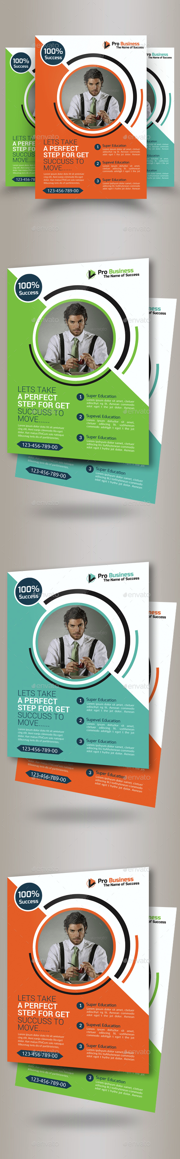 Corporate Strategy Business Flyer Template - Corporate Flyers