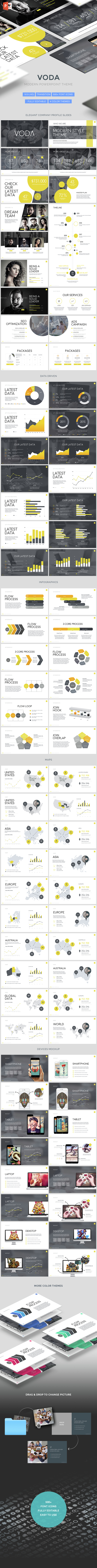 Voda - Creative Powerpoint Template - PowerPoint Templates Presentation Templates
