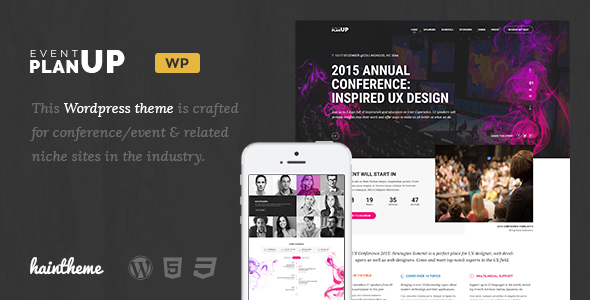 PlanUp – Event Booking WordPress Theme