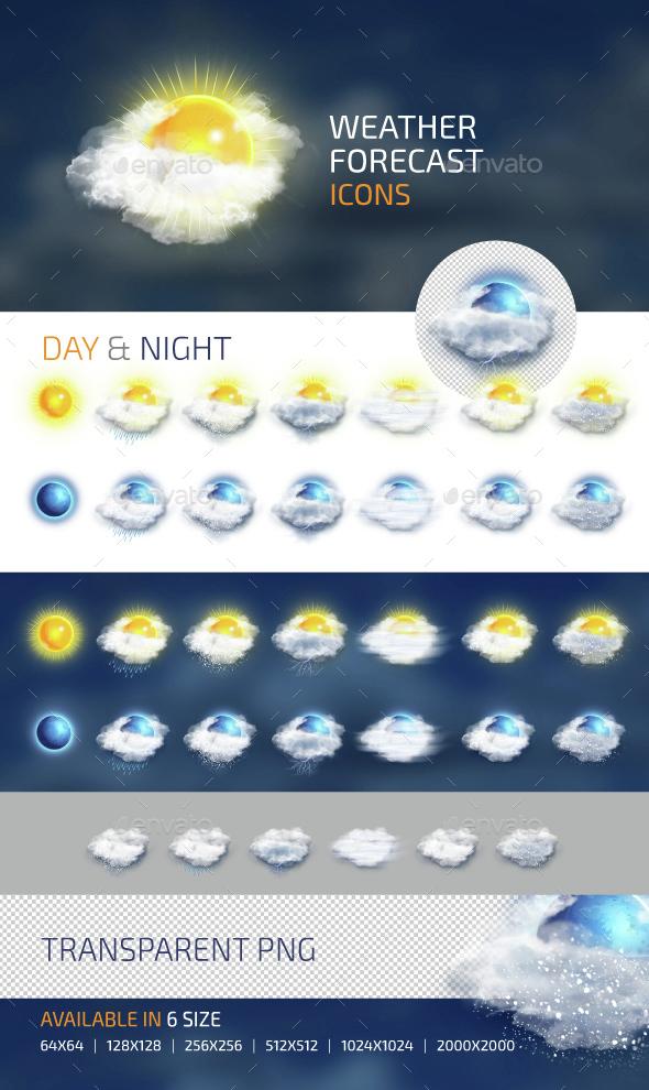 Weather Forecast Icons - Seasonal Icons