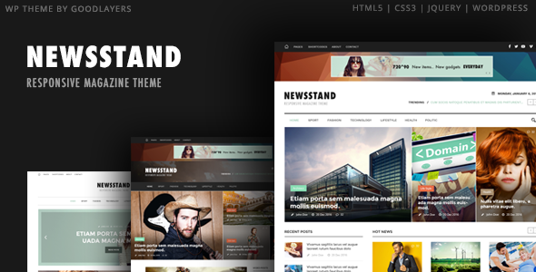 Newsstand – Responsive Magazine & Editorial WordPress Theme