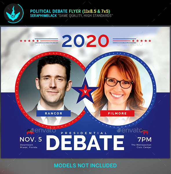 Political Debate Flyer Template - Corporate Flyers