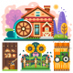 Farm House in the Forrest - GraphicRiver Item for Sale