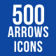 500 Arrows Icons Bundle - GraphicRiver Item for Sale