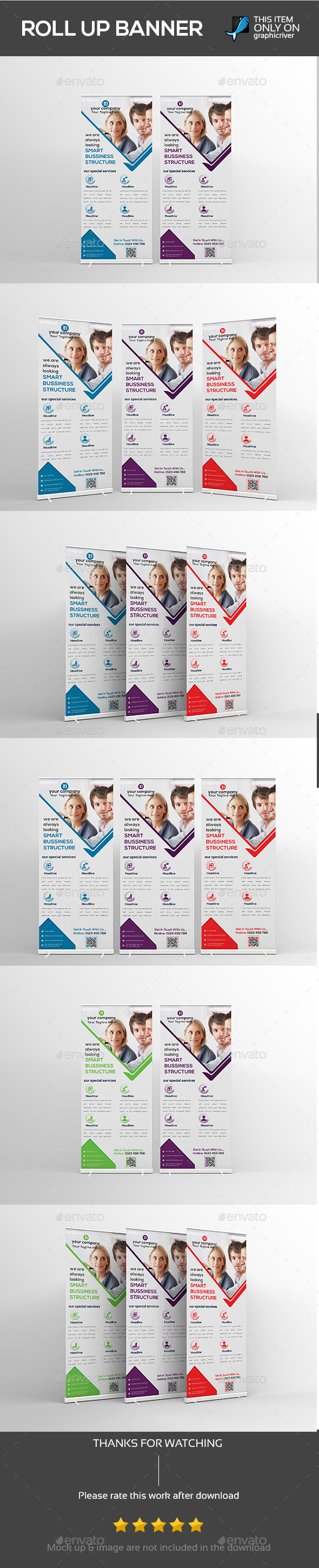 Creative Corporate roll up Banner vol-01 - Signage Print Templates