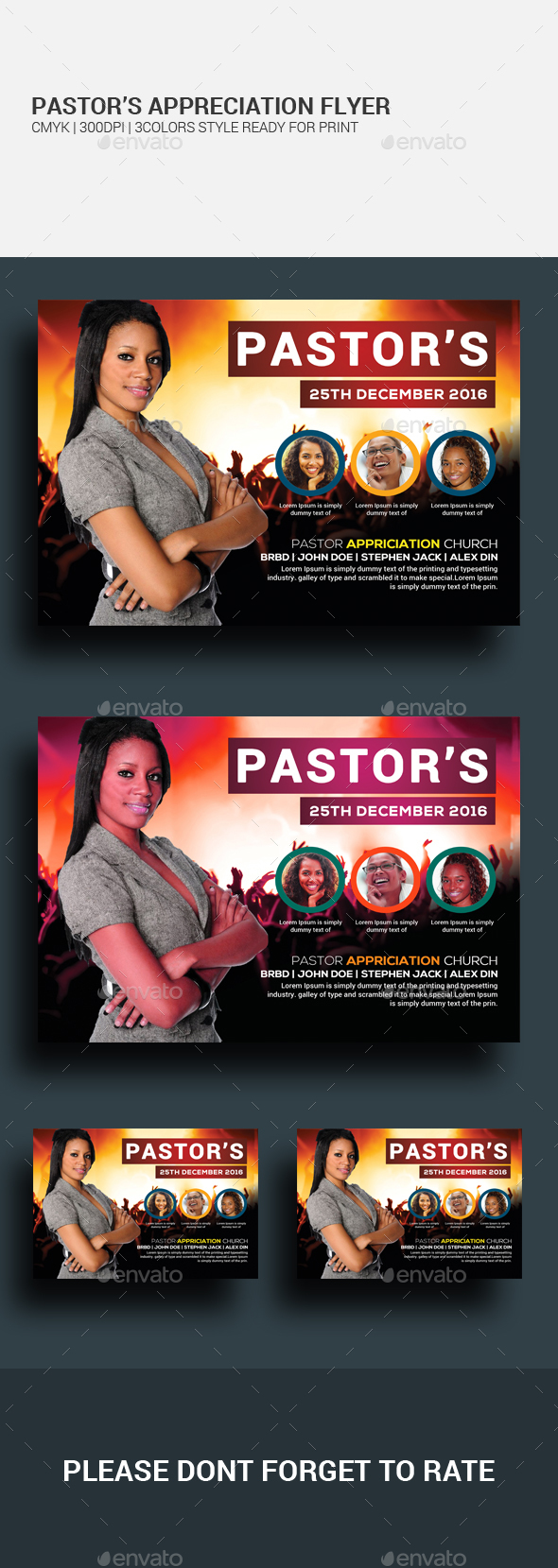 Pastor's Appreciation Flyer - Church Flyers
