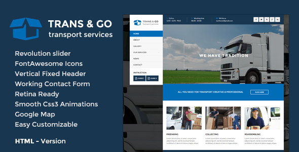 TransGo - Transport & Logistics HTML5 Template