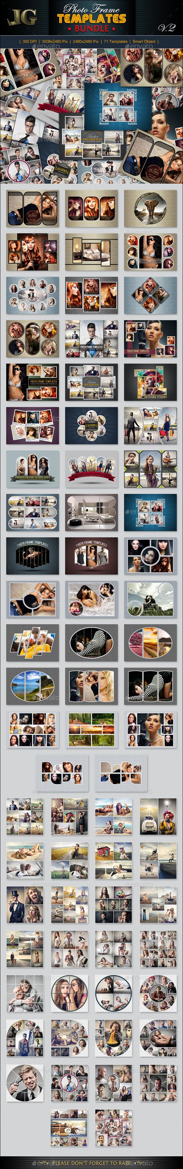 Photo Frame Templates Bundle V2 - Miscellaneous Photo Templates