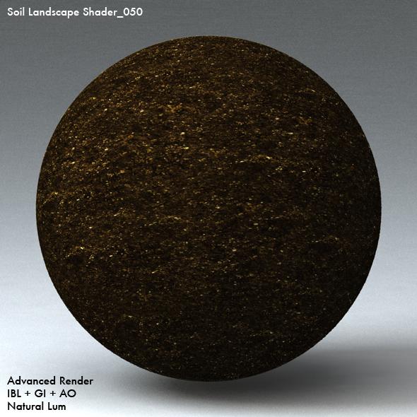 Soil Landscape Shader_050 - 3DOcean Item for Sale
