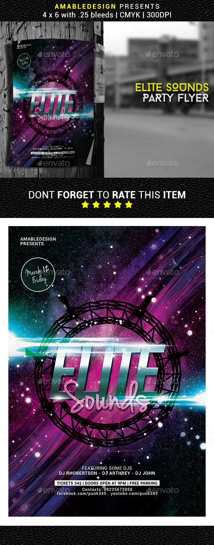 Elite Sounds Party Flyer - Clubs & Parties Events