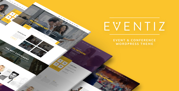 Eventiz - Conference Event Responsive WordPress Theme - Events Entertainment