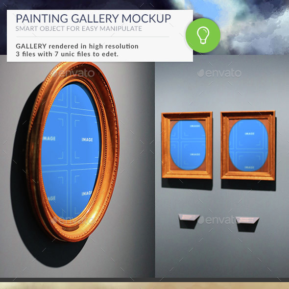 Gallery Mockups Paintings HD - Product Mock-Ups Graphics