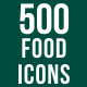 500 Food Icons Bundle - GraphicRiver Item for Sale
