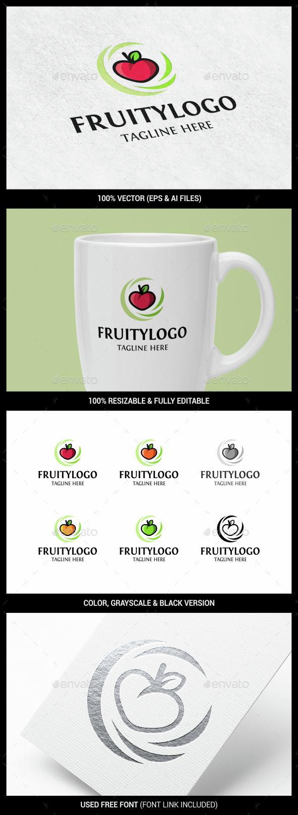 Fruit - Food Logo Templates