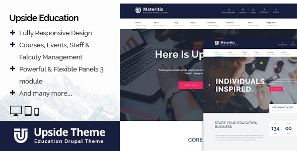 Upside Education Drupal Theme - Business Corporate