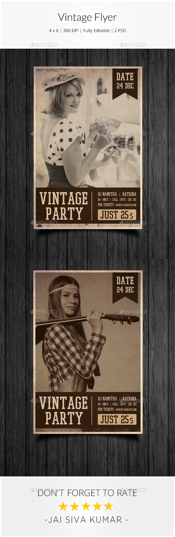 Vintage Party Flyer - Clubs & Parties Events