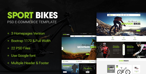 Sportbike – Multipurpose eCommerce PSD Template