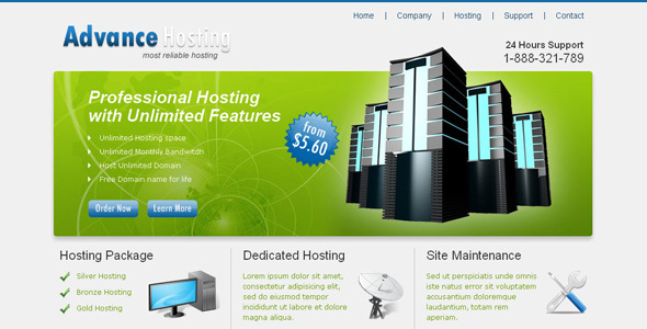 Advance Hosting - Web Hosting Template