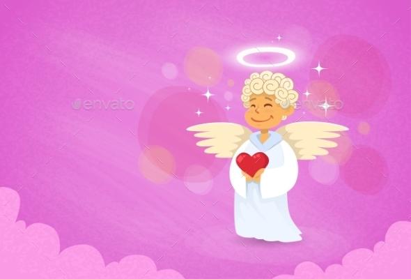 Valentine's Angel Cupid Saint Valentine Holiday - Valentines Seasons/Holidays